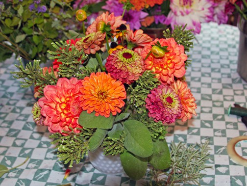How to Create an Herb & Flower Arrangement