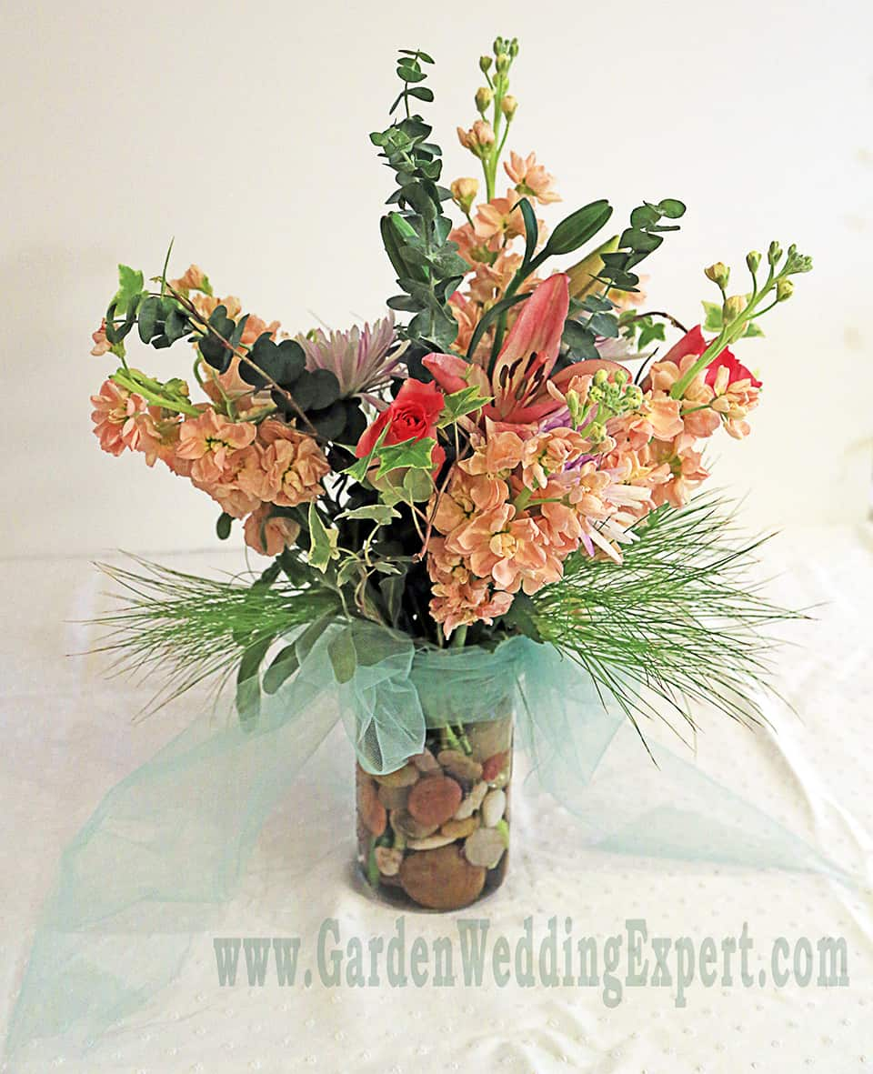 Mason jar arrangements — garden wedding expert